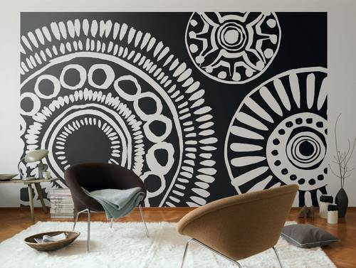 trend tapeten gro e muster und extravagante applikationen. Black Bedroom Furniture Sets. Home Design Ideas